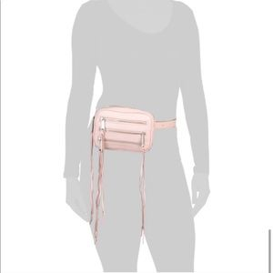 Rebecca Minkoff 3 Zip Leather Belt Bag Blush Pink